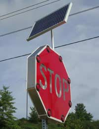 Solar Powered Road Signs